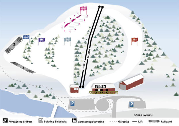 Hammarbybacken Trail Map