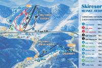 Mlynky - Dedinky Trail Map