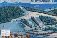 Ski centrum Nižná - Uhliská Løypekart