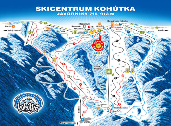 Skicentrum Kohútka Trail Map