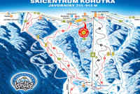 Skicentrum Kohútka Piste Map
