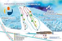 Góra Kamieńsk Mapa zjazdoviek