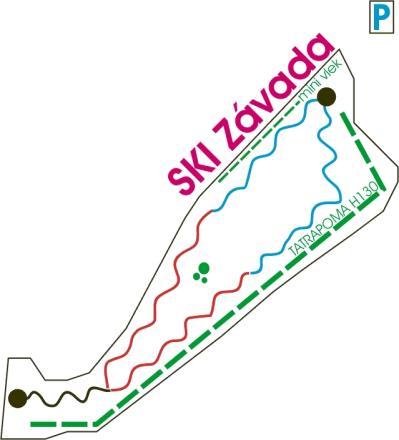 Závada pod Čiernym vrchom Plan des pistes