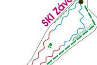 Závada pod Čiernym vrchom Mapa zjazdoviek