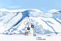Stebnícka Huta Plan des pistes