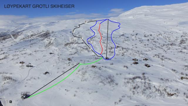 Grotli Skiheiser Plan des pistes
