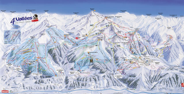 Nendaz Trail Map