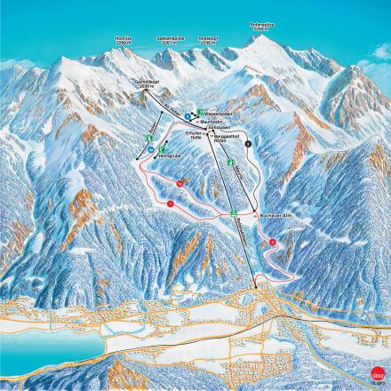 Achensee - Maurach Mappa piste