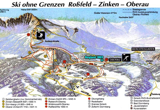 Obersalzberg Trail Map