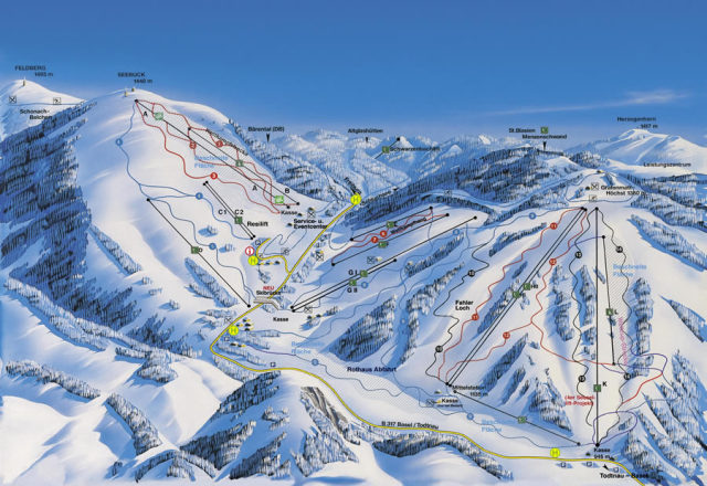 Feldberg Wintersportzentrum Piste Map