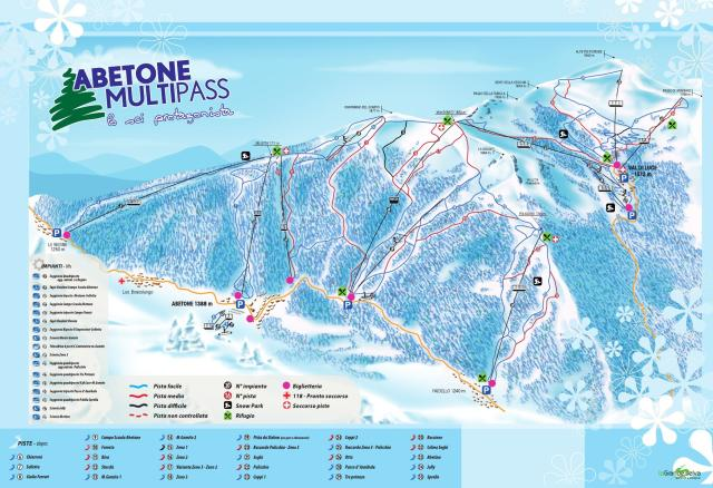 Abetone Trail Map
