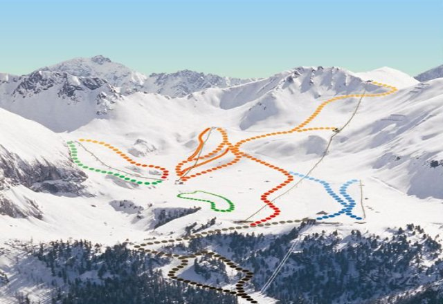 Ciampac - Buffaure Piste Map