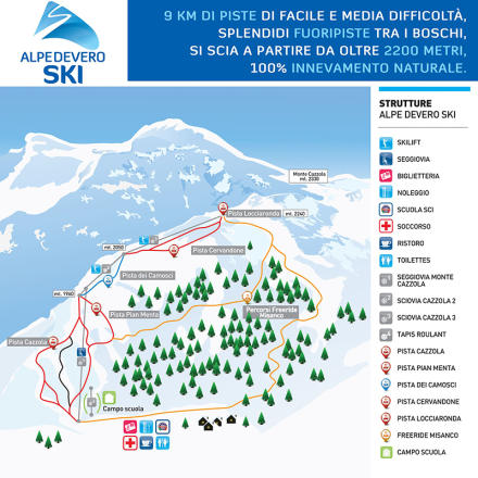 Alpe Devero Piste Map