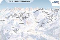 Obereggen - Pampeago - Predazzo Mapa zjazdoviek