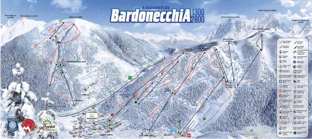 Bardonecchia Mapa zjazdoviek