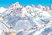 Bellamonte - Alpe Lusia Trail Map