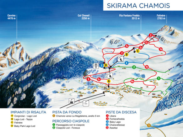 Chamois Trail Map
