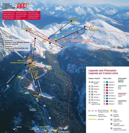 Merano 2000 / Meran 2000 Trail Map
