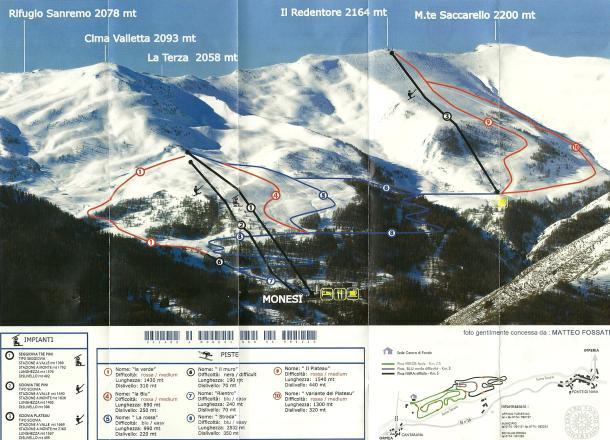 Monesi di Triora Piste Map