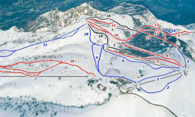 Mottarone Piste Map