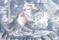 Passo Lavazè -  Oclini Mapa zjazdoviek