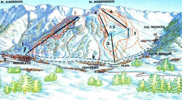 Pragelato Trail Map