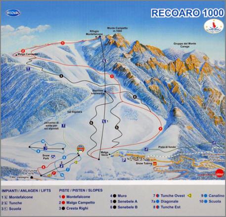 Recoaro Mille Piste Map
