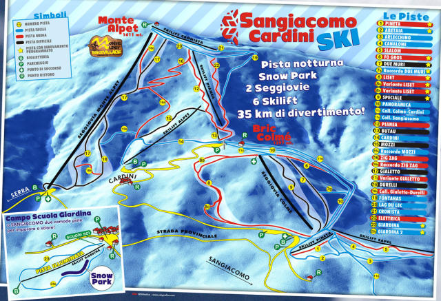 Sangiacomo di Roburent Trail Map