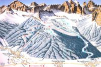 Vigo di Fassa Mapa zjazdoviek
