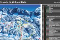 Hündle - Erlebnisbahn Oberstaufen Plan des pistes