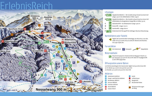 Alpspitz Nesselwang Trail Map