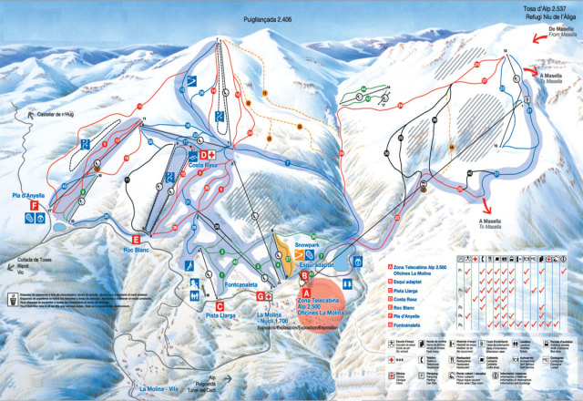 La Molina Trail Map