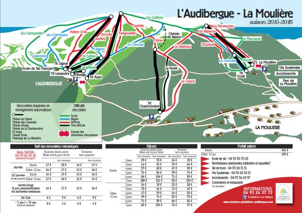 L'Audibergue - La Moulière Piste Map