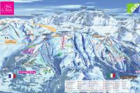 La Rosière Mapa zjazdoviek