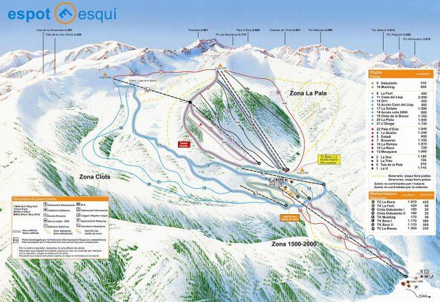Espot Esquí Plan des pistes