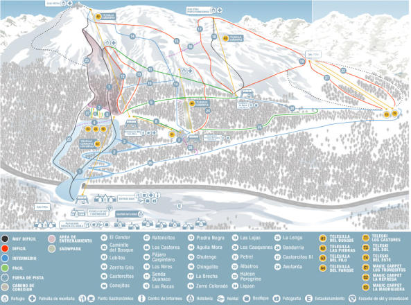 Cerro Castor Trail Map