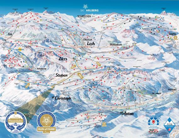 Stuben am Arlberg Piste Map