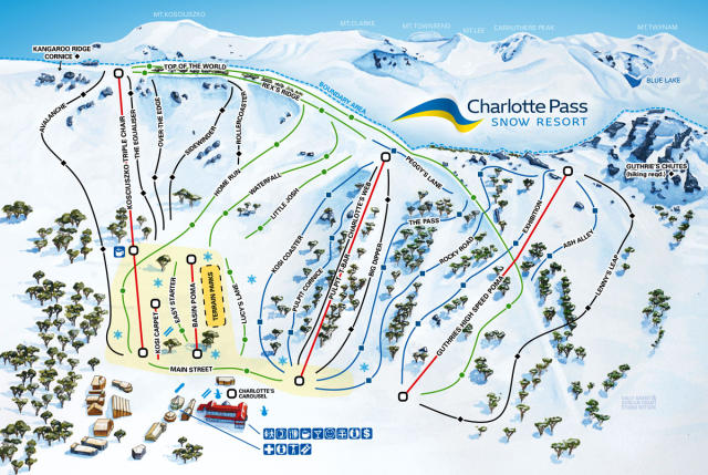 Charlotte Pass Trail Map