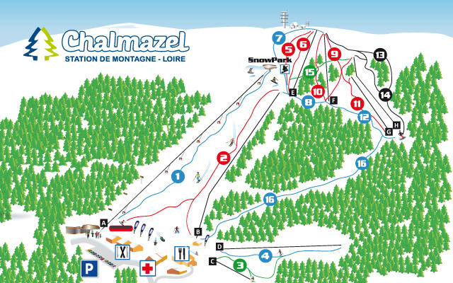 Chalmazel Trail Map
