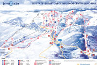 Mount Jahorina Piste Map
