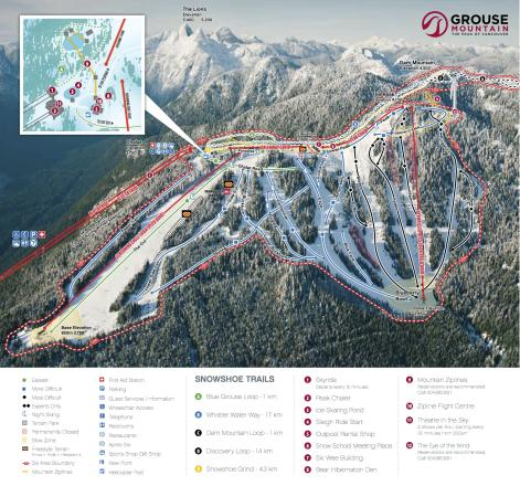 Grouse Mountain Piste Map