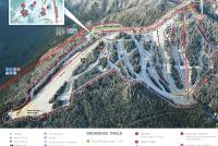 Grouse Mountain Mapa zjazdoviek