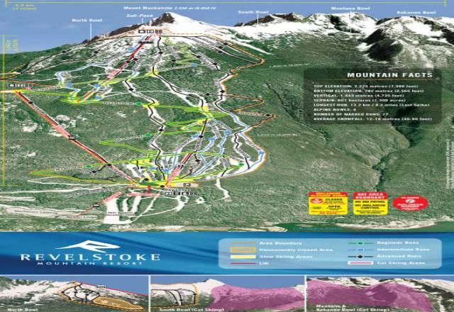 Revelstoke Mountain Trail Map