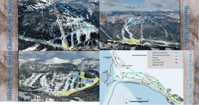 Whitewater Ski Resort Mapa tras