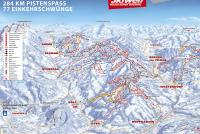 Brixen im Thale - SkiWelt Plan des pistes