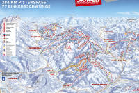 Brixen im Thale - SkiWelt Mapa zjazdoviek