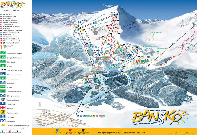 Bansko Trail Map