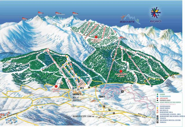 Borovets Trail Map