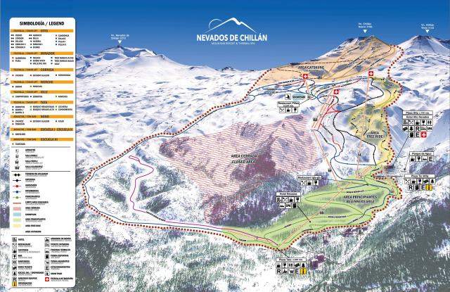 Nevados de Chillan Plan des pistes