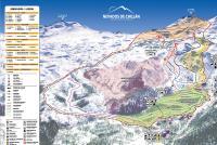 Nevados de Chillan Mapa tras